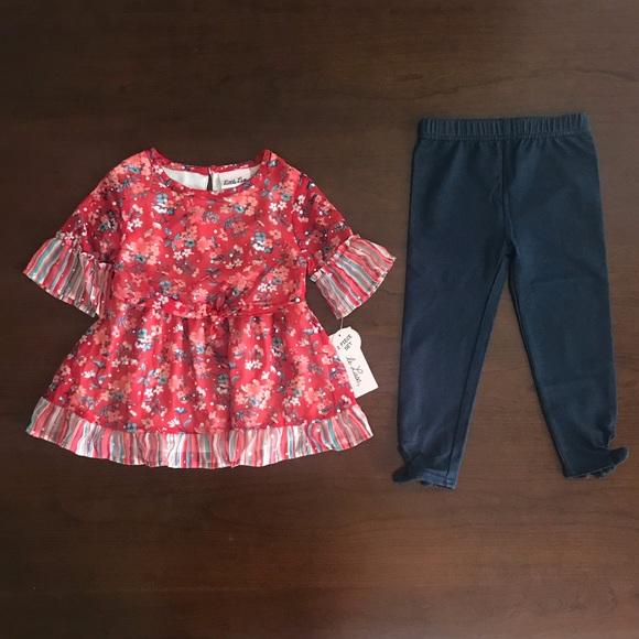 Little Lass Other - Little Lass Flower Top & Jeans